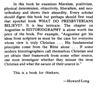 ghc review 19; historiography, secular and religious, review, blue banner faith and life, vol 28, jan-mar, 1973, no. 1, p. 134. b