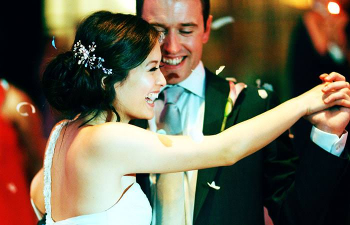 Wedding Photographer at RIBA, London - couple dancing