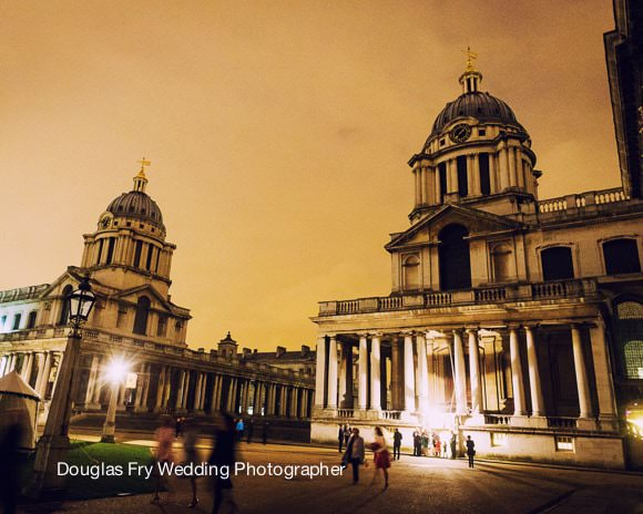 Wedding Photograph of exterior of Royal Naval College