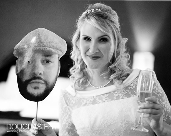 Bride photographed at Syon Park Hilton gettin ready in 2016