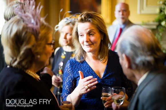 Guest during wedding reception at Cavalry and Guards Club