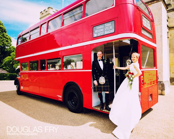 Couple photographed on London bus in front of Syon House