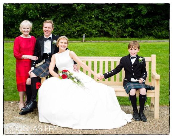 Family photograph at Richmond Golf Club wedding