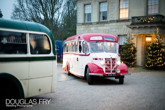 Ages past buses waiting in front of Cliveden House