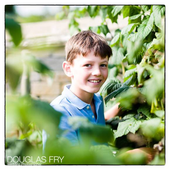 Boy pictured in garden