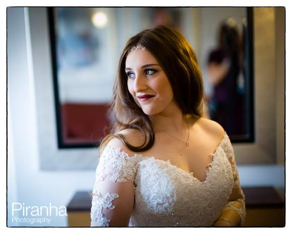 Bride getting ready at London Hotel
