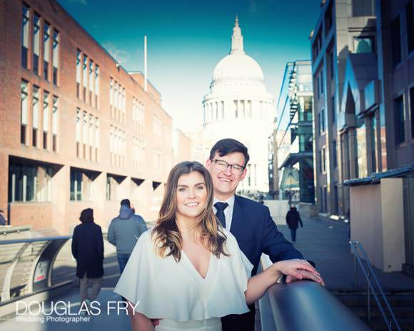 Wedding Photograph with St Pauls