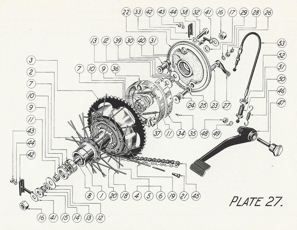 T35 Rear wheel assembly