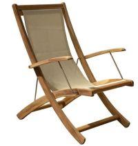 St. Tropez Beach Chair - DOUGLAS NANCE TEAK WHOLESALE