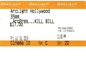 Kill Bill: Vol. 1 - 35mm - ArcLight Cinemas - Movie Ticket - CINEMA 10