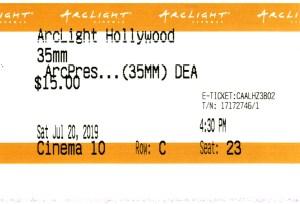 Death Proof - 35mm - ArcLight Cinemas - Movie Ticket - CINEMA 10