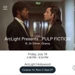 ArcLight Hollywood – Pulp Fiction (digital ticket)