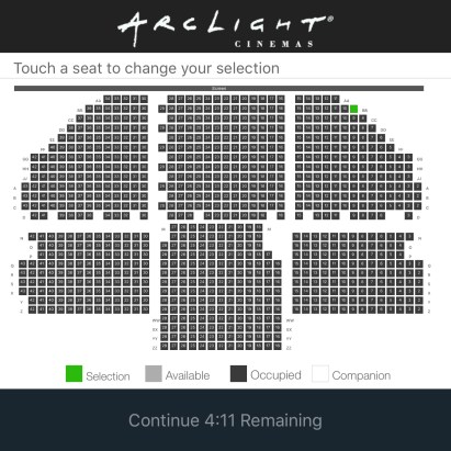 Arclight Hollywood Seating Chart