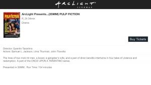ArcLight Cinemas Presents - Pulp Fiction