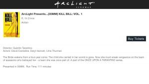 ArcLight Cinemas Presents - Kill Bill: Vol. 1