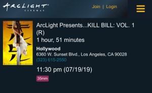 ArcLight Cinemas Presents - Kill Bill: Vol. 1 (screenshot)