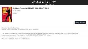 ArcLight Cinemas Presents - Kill Bill: Vol. 2