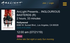 ArcLight Cinemas Presents - Inglorious Basterds (screenshot)