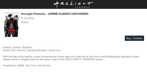 ArcLight Cinemas Presents - Django Unchained