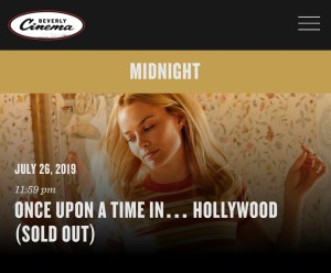New Beverly Cinema - Midnight - Friday, July 26 - Top Banner - SOLD OUT