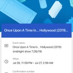 Once Upon A TIme In... Hollywood - Screenshot - Brown Paper Tickets - Confirmation Number