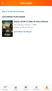 Fandango - Purchases - Upcoming Purchases - Once Upon a Time in Hollywood