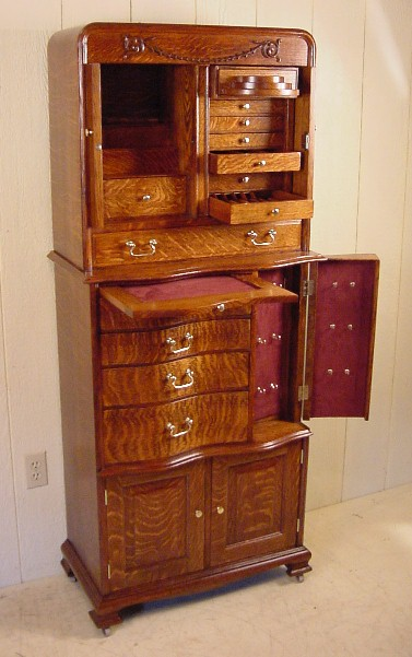 American Cabinet Co Oak Dental Cabinet