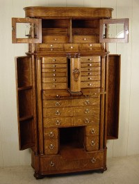 American Cabinet Co. Oak Dental Cabinet