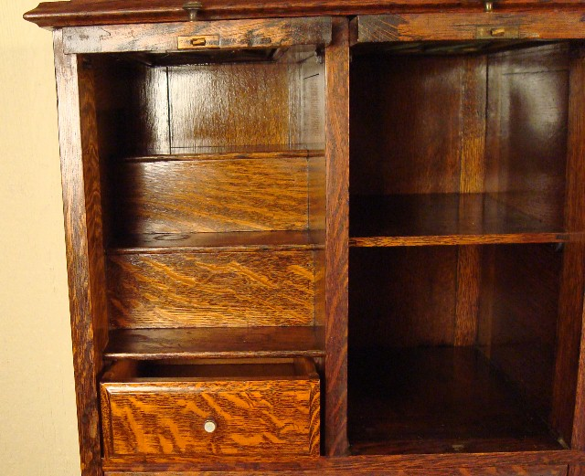American Cabinet Co Oak Dental Cabinet 55