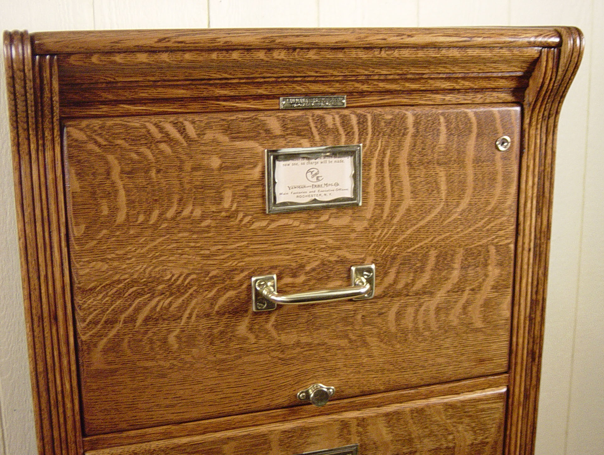 Legal Size Oak File Cabinet signed YawmanErbe