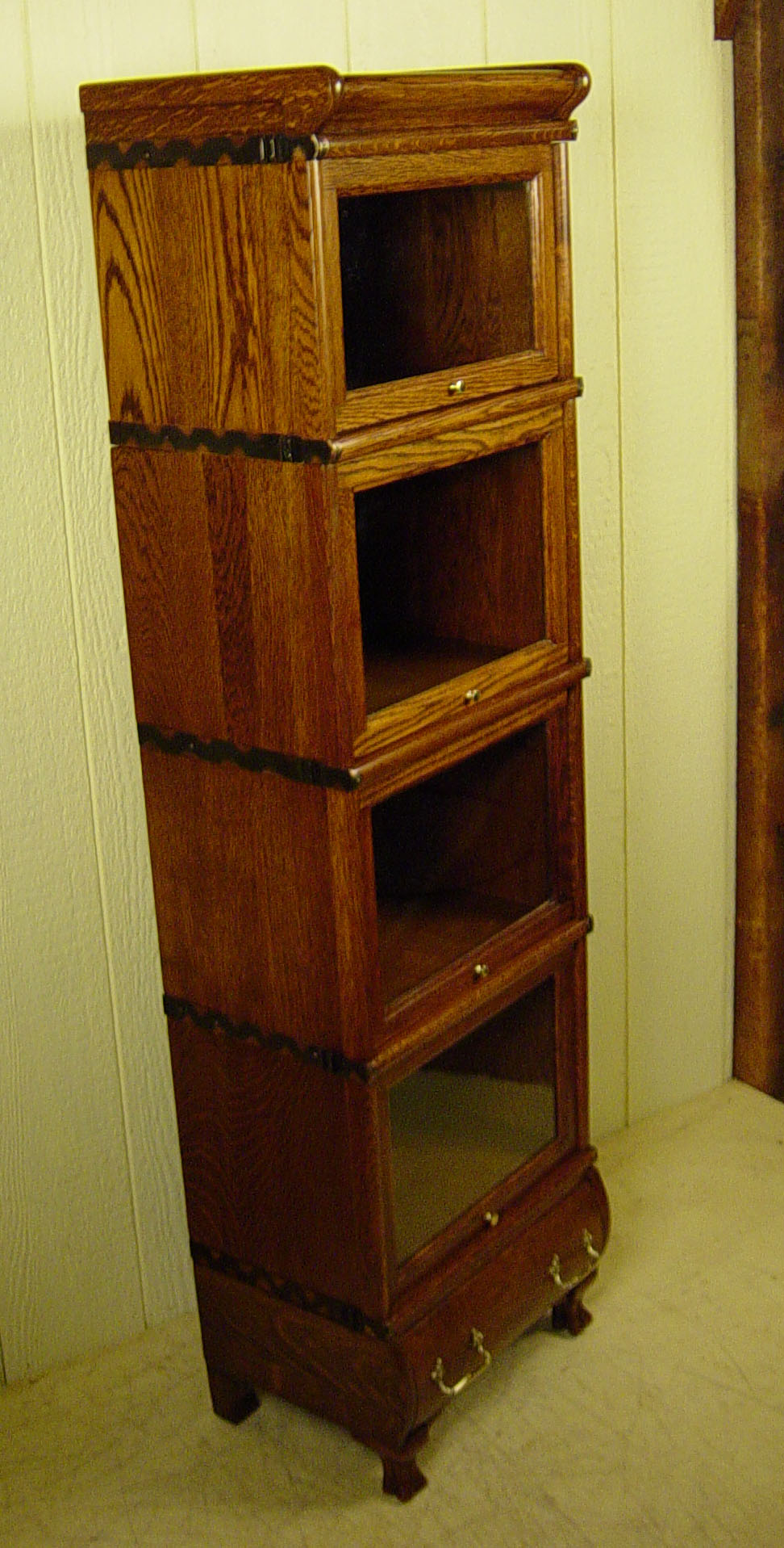 Rare 4 Section Miniature Macey Co Stacking Oak Bookcase