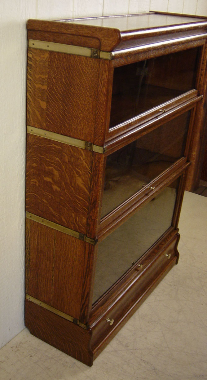 Oak 3 Section Stacking Bookcase