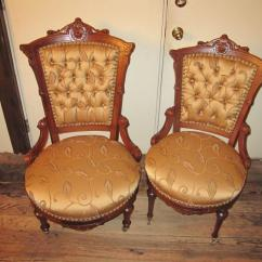 Victorian Parlor Chairs Pottery Barn Kid Walnut Matching Gentleman 39s And Ladies 39