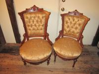 Victorian Parlor Chairs. Victorian Walnut Matching ...