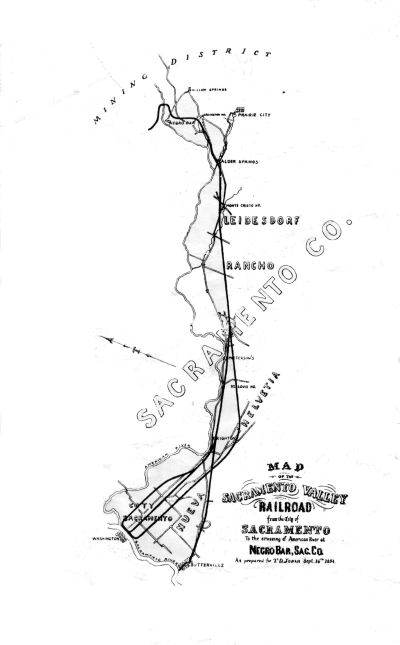 Judah's  Map of the SVRR Railroad