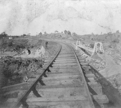 SVRR railroad bridge in Folsom - 1866