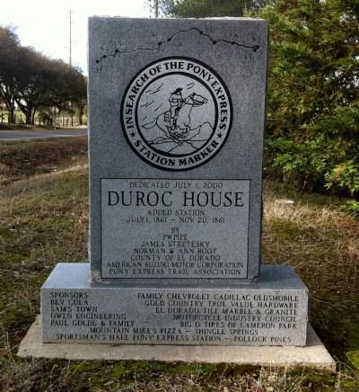Duroc House Plaque