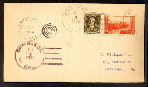 Envelope with two cancellations, 26 years apart. Unknown reason.