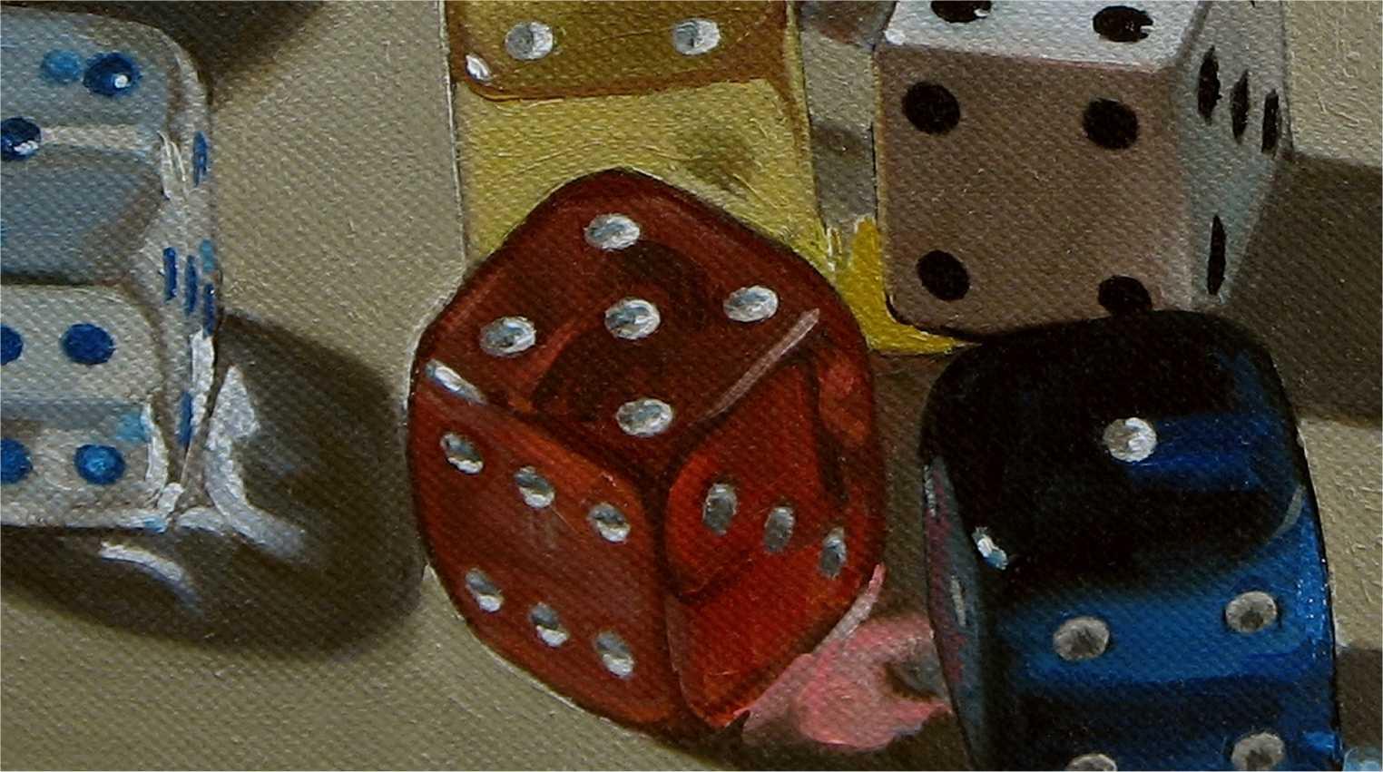 Risultati immagini per painting dice