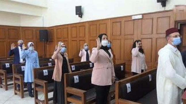 الفوج الأول للنساء العدول يؤدي اليمين القانونية بالعديد من محاكم المملكة
