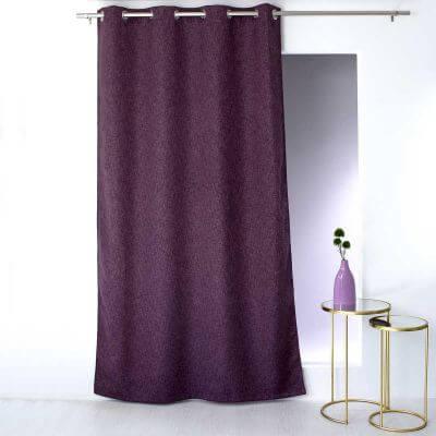 rideaux unis achat rideau a oeillets