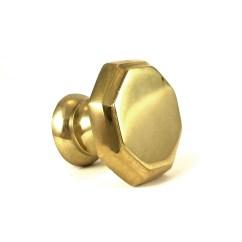 Gold Kitchen Hardware Modern Art Hexagon Solid Brass Knob Cabinet