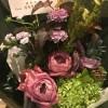 お祝いのお花をわざわざ持ってきてくれました