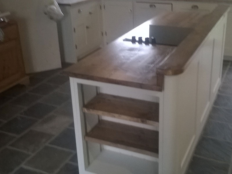 Reclaimed scaffold boards  Dove Furniture  Kitchens York