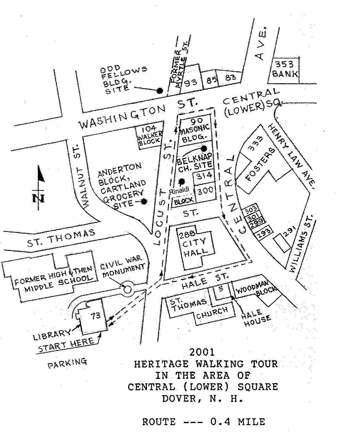 2001 Heritage Walking Tour