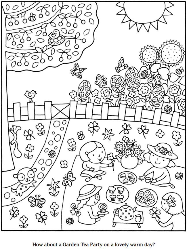 Groentetuin Kleurplaat