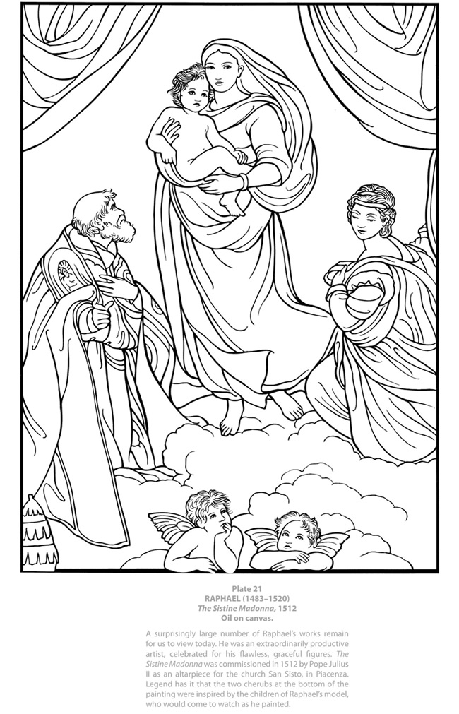 Sistine Chapel Coloring Book Coloring Pages