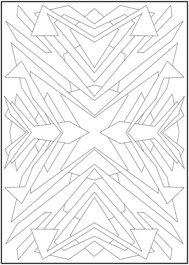 Art Deco Coloring Pages Art Deco Design Coloring Page 3
