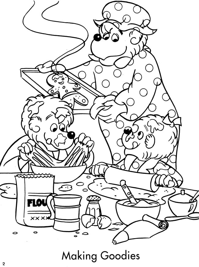 Berenstain Bears Coloring Face Coloring Pages