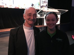 Celebrating birthday with Woodie Flowers